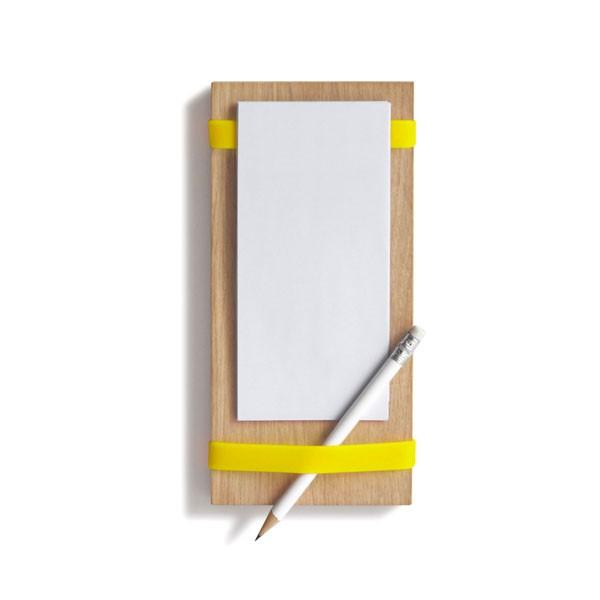 Notizblockhalter für die Küche Farbe: gelb von Side by Side